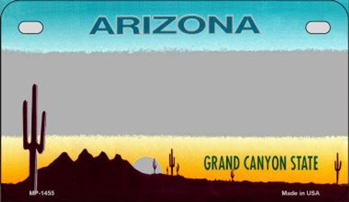 Arizona Grey State Background Blank Novelty Metal Motorcycle Plate MP-1455