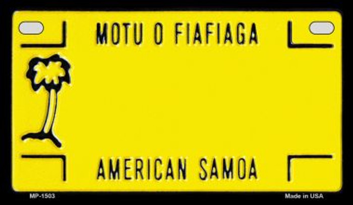 American Samoa Blank Background Novelty Metal Motorcycle Plate MP-1503