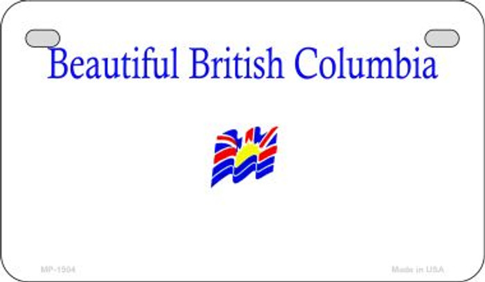 British Columbia Blank Background Novelty Metal Motorcycle Plate MP-1504