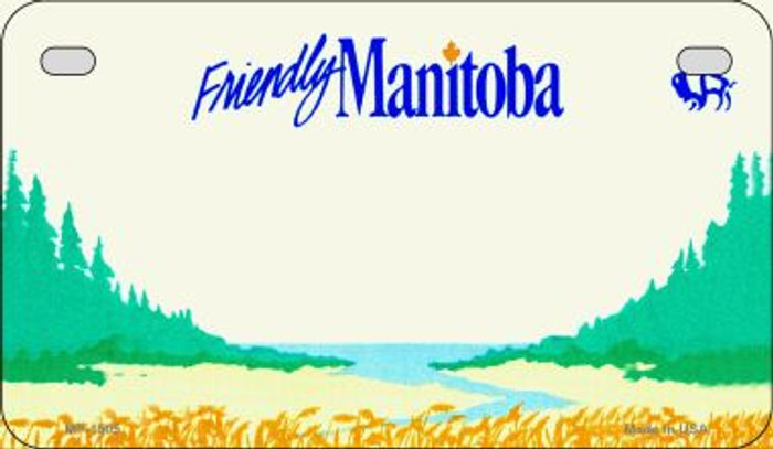 Manitoba Blank Background Novelty Metal Motorcycle Plate MP-1505