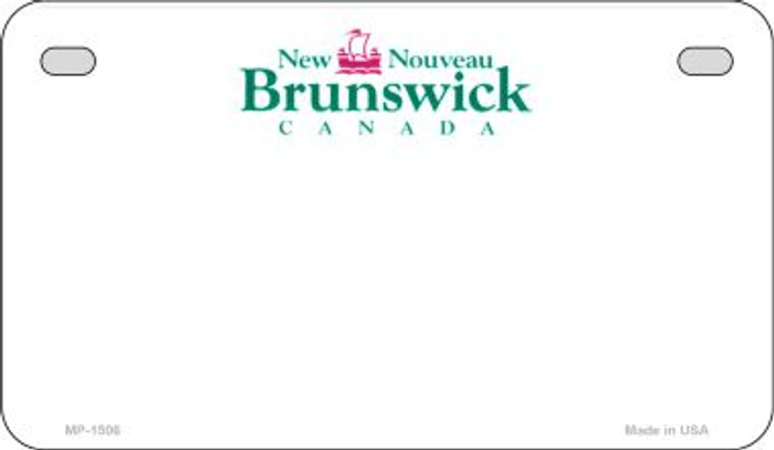 New Brunswick Blank Background Novelty Metal Motorcycle Plate MP-1506