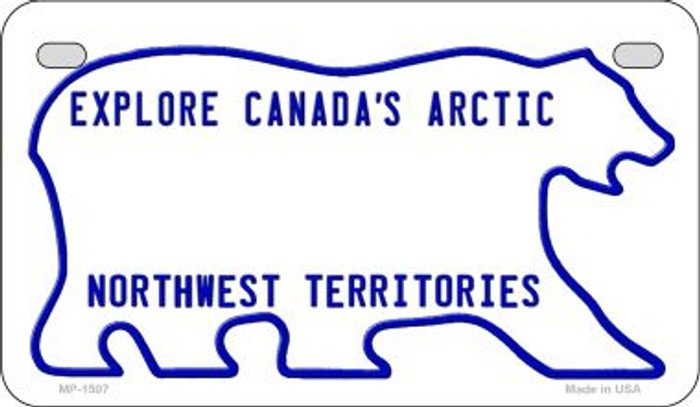 Northwest Territories Blank Background Novelty Metal Motorcycle Plate MP-1507