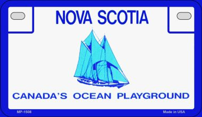 Nova Scotia Blank Background Novelty Metal Motorcycle Plate MP-1508