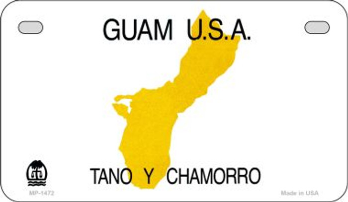 Guam Blank Background Novelty Metal Motorcycle Plate MP-1472