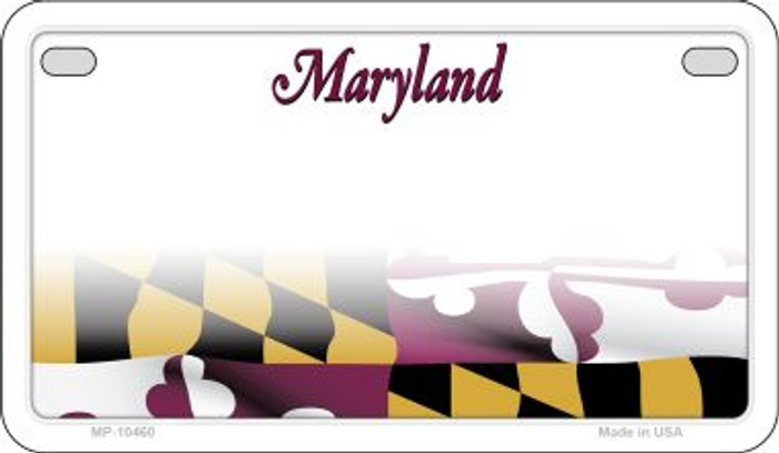 Maryland State Background Blank Novelty Metal Motorcycle Plate MP-10460