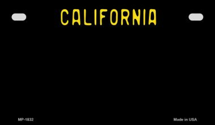 California Black State Background Blank Novelty Metal Motorcycle Plate MP-1832