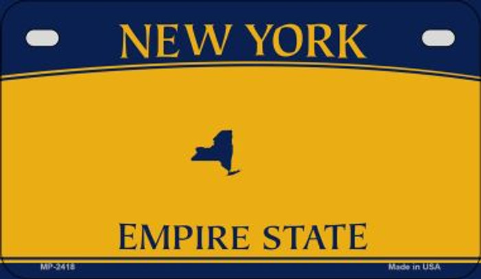 New York State Background Blank Novelty Metal Motorcycle Plate MP-2418