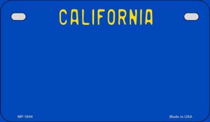 California Blue State Background Blank Novelty Metal Motorcycle Plate MP-1844