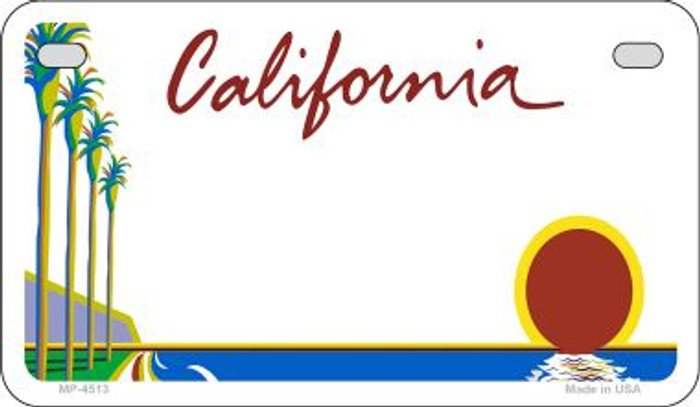 California State Background Blank Novelty Metal Motorcycle Plate MP-4513