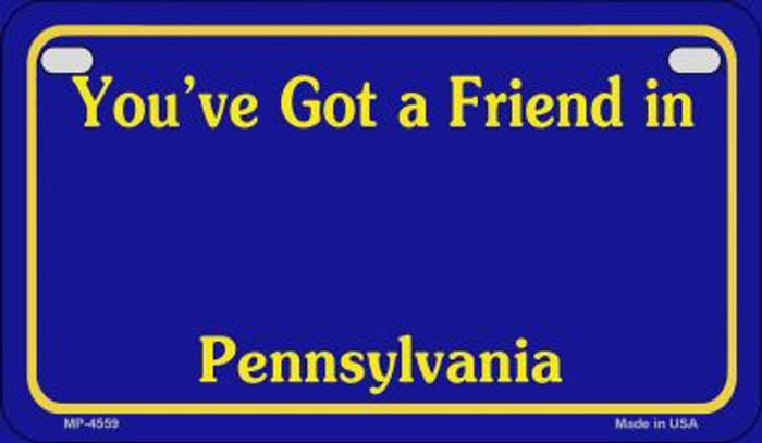 Pennsylvania State Background Blank Novelty Metal Motorcycle Plate MP-4559