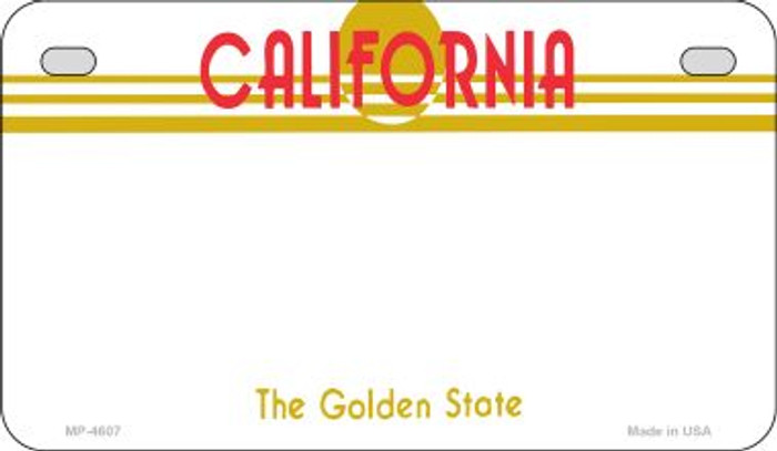 California State Background Blank Novelty Metal Motorcycle Plate MP-4607