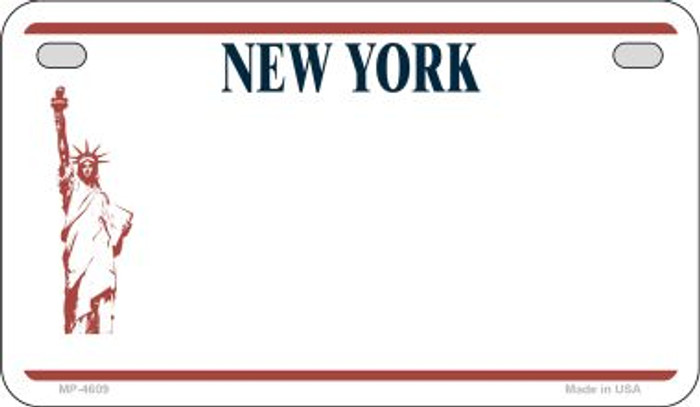 New York State Background Blank Novelty Metal Motorcycle Plate MP-4609