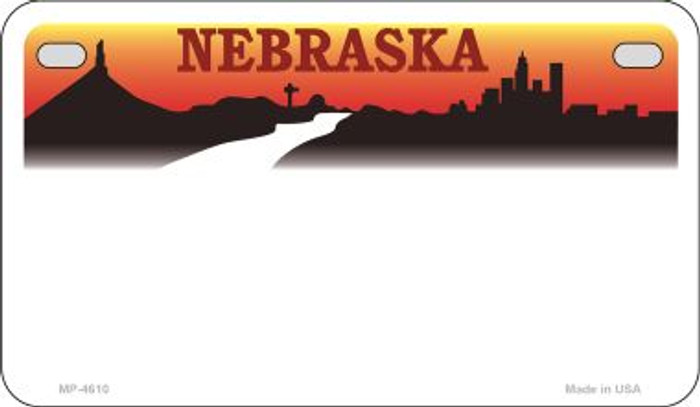 Nebraska State Background Blank Novelty Metal Motorcycle Plate MP-4610