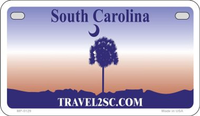 South Carolina State Background Blank Novelty Metal Motorcycle Plate MP-5129