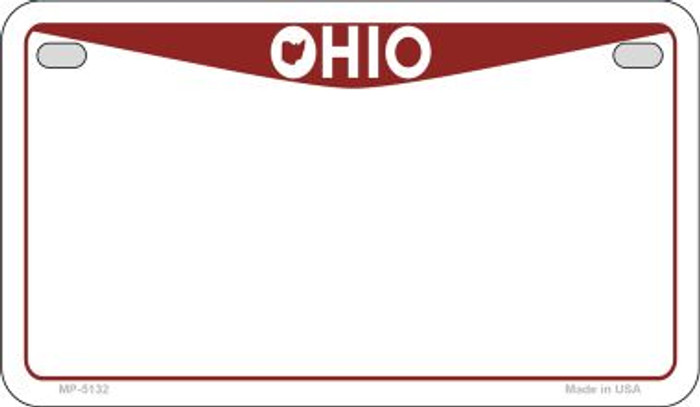 Ohio State Background Blank Novelty Metal Motorcycle Plate MP-5132