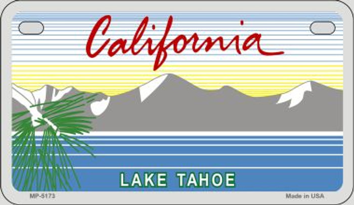 California Lake Tahoe State Background Blank Novelty Metal Motorcycle Plate MP-5173