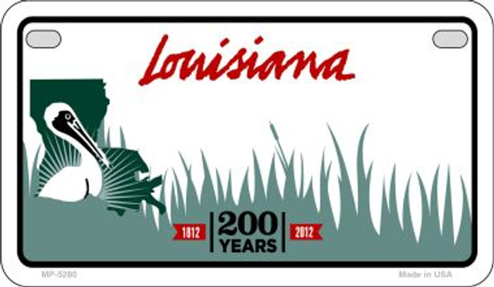 Louisiana State Background Blank Novelty Metal Motorcycle Plate MP-5280