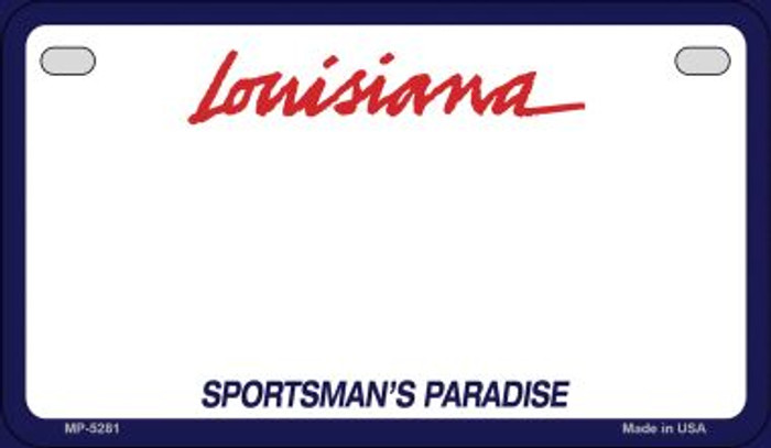 Louisiana State Background Blank Novelty Metal Motorcycle Plate MP-5281