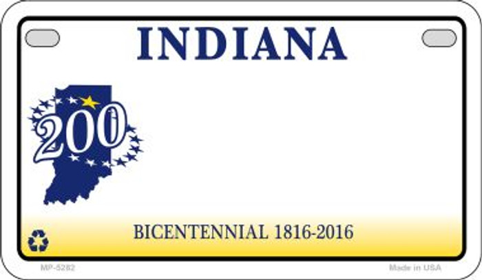 Indiana State Background Blank Novelty Metal Motorcycle Plate MP-5282