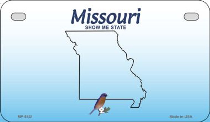 Missouri State Background Blank Novelty Metal Motorcycle Plate MP-5331