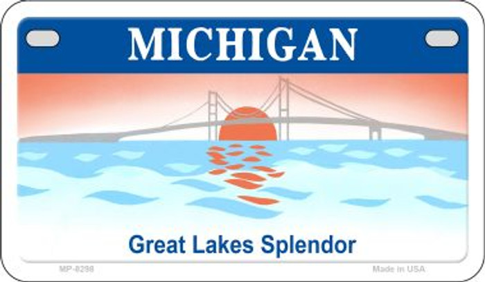 Michigan State Background Blank Novelty Metal Motorcycle Plate MP-8298