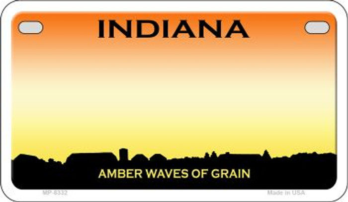 Indiana State Background Blank Novelty Metal Motorcycle Plate MP-8332