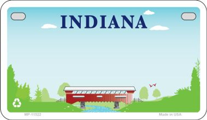 Indiana State Background Blank Novelty Metal Motorcycle Plate MP-11522