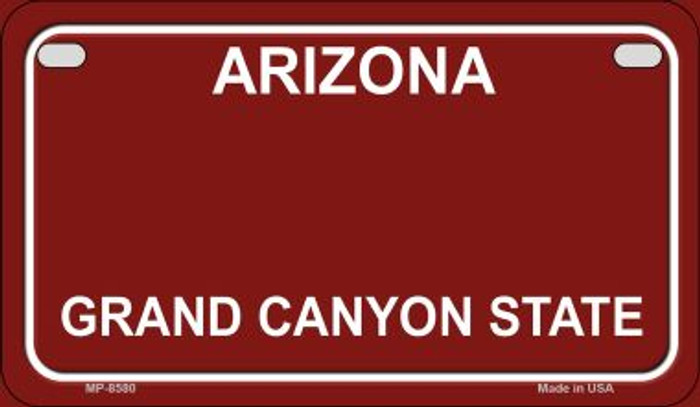 Arizona State Background Blank Novelty Metal Motorcycle Plate MP-8580