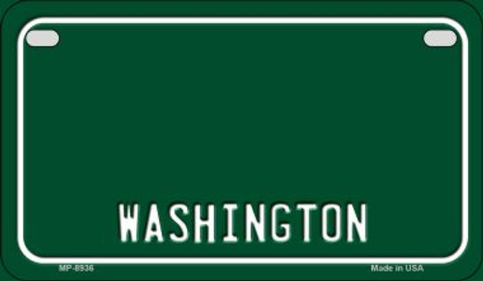 Washington State Background Blank Novelty Metal Motorcycle Plate MP-8936