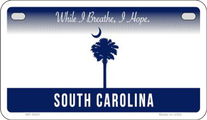 South Carolina State Background Blank Novelty Metal Motorcycle Plate MP-9491