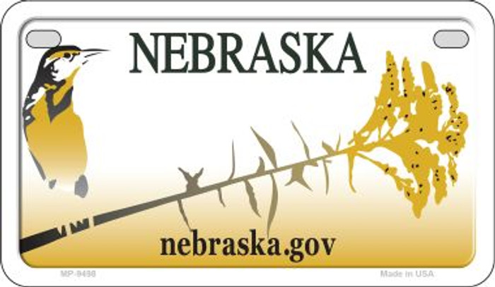 Nebraska State Background Blank Novelty Metal Motorcycle Plate MP-9498