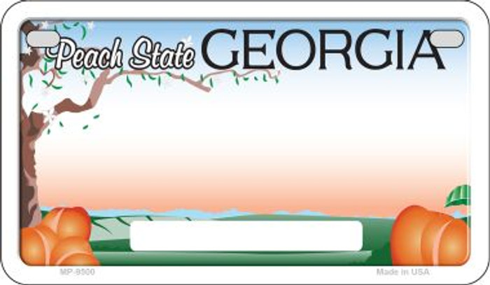 Georgia State Background Blank Novelty Metal Motorcycle Plate MP-9500