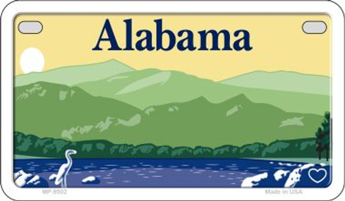 Alabama State Background Blank Novelty Metal Motorcycle Plate MP-9502