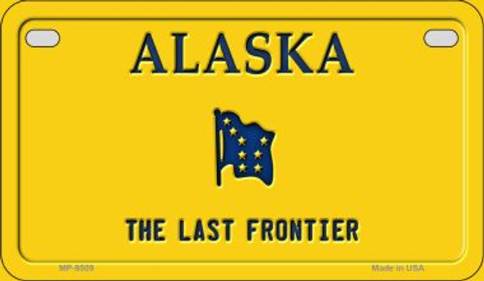 Alaska State Background Blank Novelty Metal Motorcycle Plate MP-9509