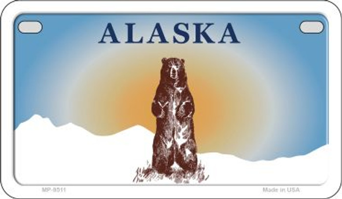 Alaska Bear State Background Blank Novelty Metal Motorcycle Plate MP-9511
