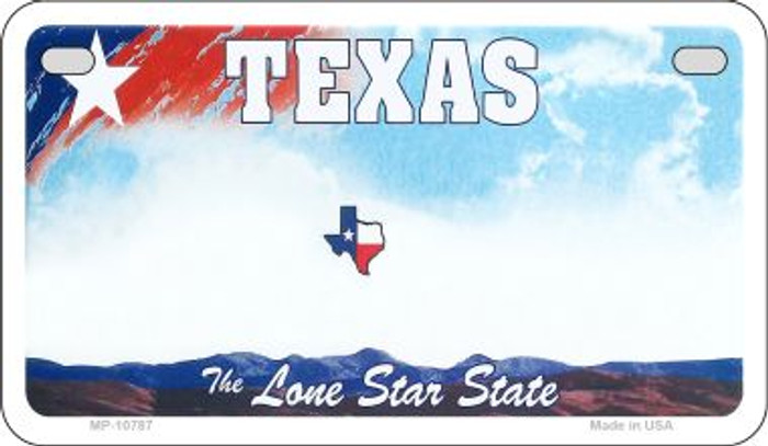 Texas State Background Blank Novelty Metal Motorcycle Plate MP-10787