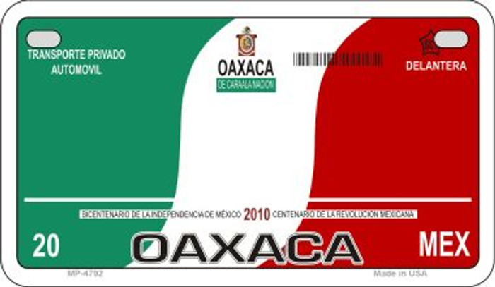 Oaxaca Mexico Blank Background Novelty Metal Motorcycle Plate MP-4792