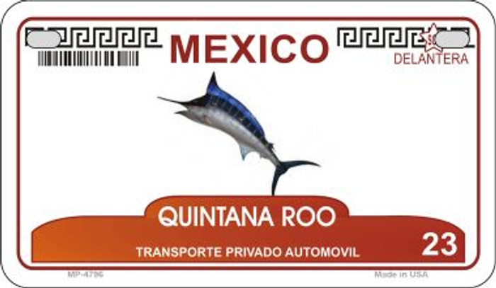 Quintana Roo Mexico Blank Background Novelty Metal Motorcycle Plate MP-4796