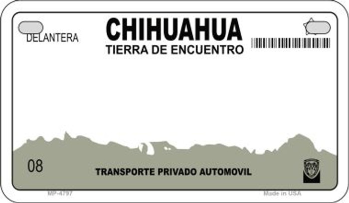 Chihuahua Mexico Blank Background Novelty Metal Motorcycle Plate MP-4767