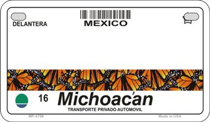 Michoacan Mexico Blank Background Novelty Metal Motorcycle Plate MP-4768