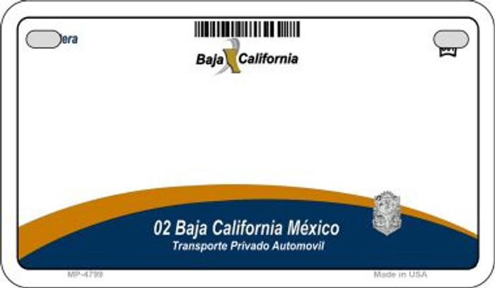 Baja California Mexico Blank Background Novelty Metal Motorcycle Plate MP-4799
