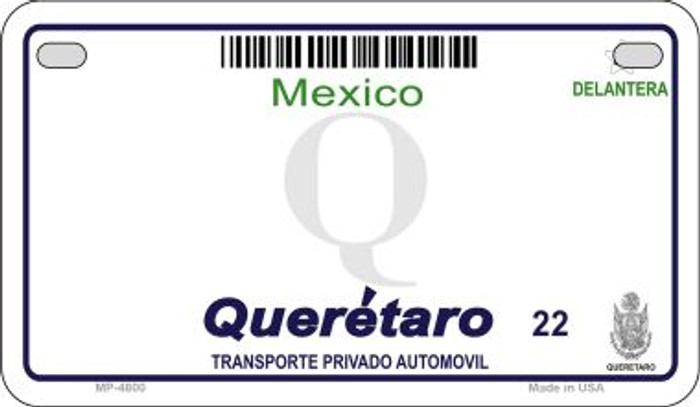 Queretaro Mexico Blank Background Novelty Metal Motorcycle Plate MP-4800
