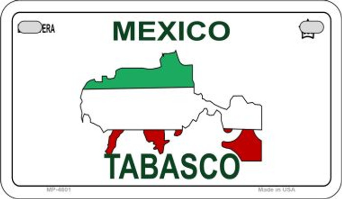 Tabasco Mexico Blank Background Novelty Metal Motorcycle Plate MP-4801