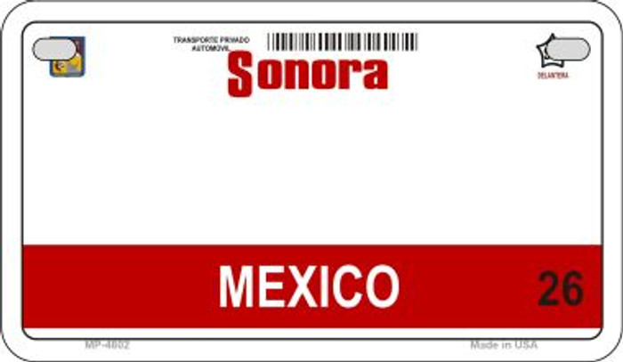 Sonora Mexico Blank Background Novelty Metal Motorcycle Plate MP-4802