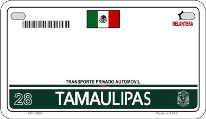 Tamaulipas Mexico Blank Background Novelty Metal Motorcycle Plate MP-4804