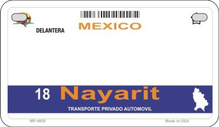 Nayarit Mexico Blank Background Novelty Metal Motorcycle Plate MP-4805