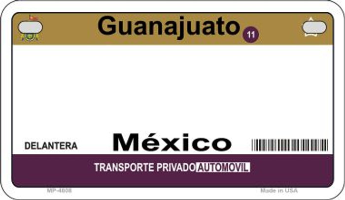 Guanajuato Mexico Blank Background Novelty Metal Motorcycle Plate MP-4808
