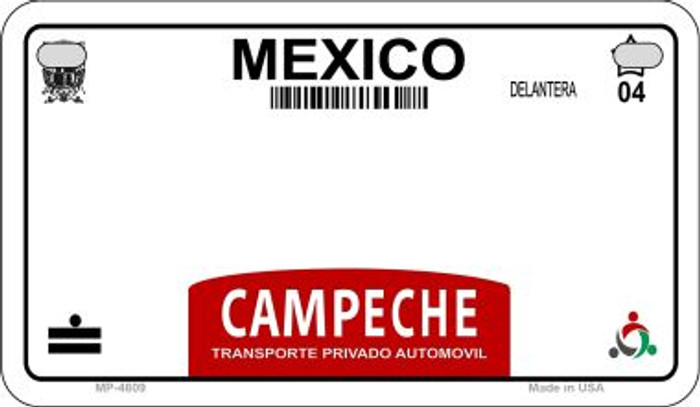 Campeche Mexico Blank Background Novelty Metal Motorcycle Plate MP-4809