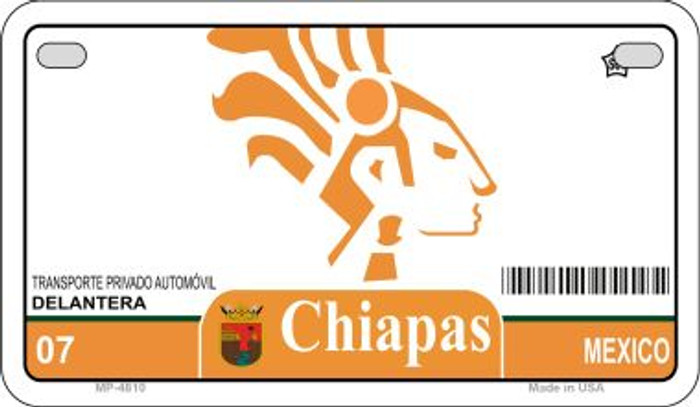 Chiapas Mexico Blank Background Novelty Metal Motorcycle Plate MP-4810