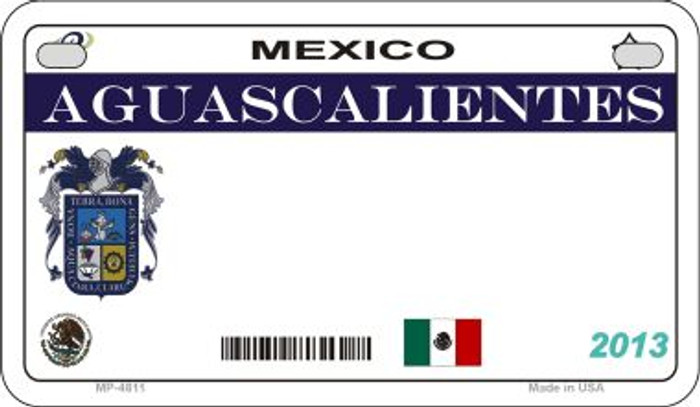 Aguascalientes Mexico Blank Background Novelty Metal Motorcycle Plate MP-4811